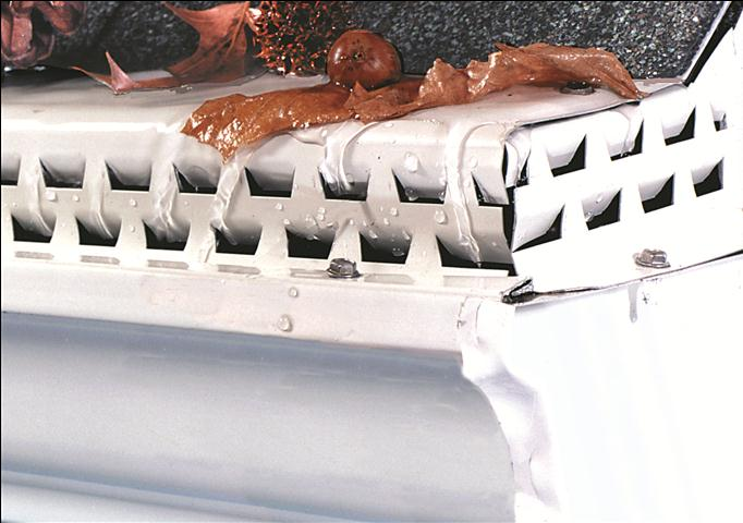 Closeup picture of Waterloov gutter guard